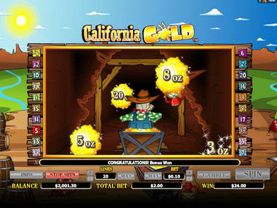 бонус игра California Gold