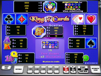 игровой автомат king of cards символы